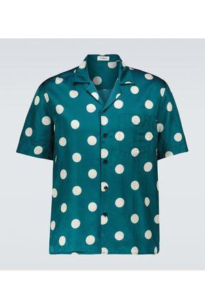 COMMAS Men Shirts - Polka dot camp-collar shirt