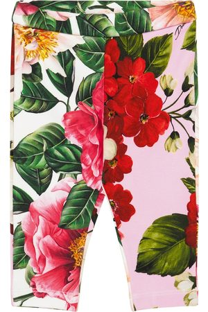 Dolce & Gabbana Baby floral stretch-cotton leggings