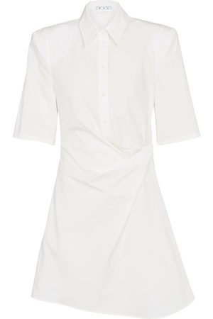 OFF-WHITE Cotton shirt minidress