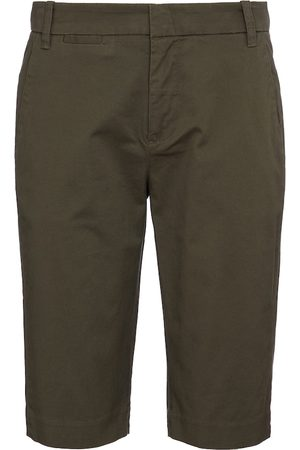 Vince Mid-rise cotton Bermuda shorts