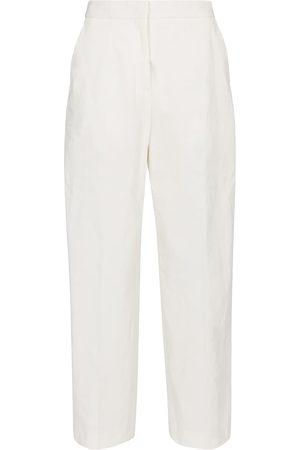 Jil Sander High-rise straight cotton-blend pants
