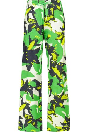 DRIES VAN NOTEN Printed cotton sweatpants