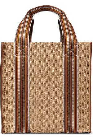 Loro Piana The Suitcase Stripe woven tote