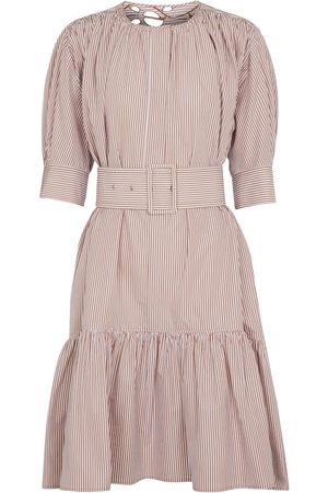 Chloé Striped cotton midi dress