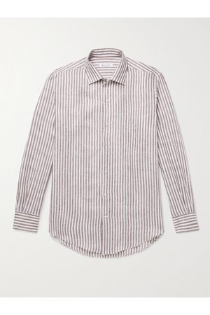 Loro Piana Men Shirts - Striped Linen Shirt