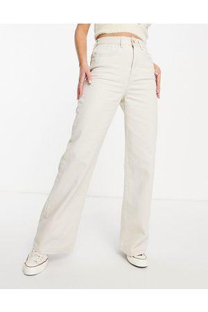 Cotton On Women High Waisted - High rise wide leg jean in ecru