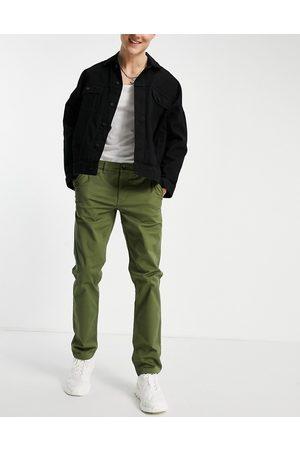 New Look Slim chino trousers in khaki