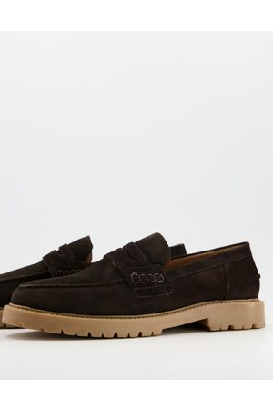 H by Hudson Radcliff chunky loafers in suede