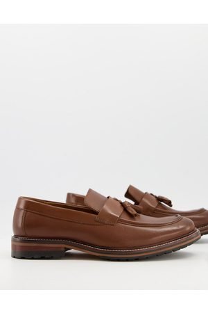 River Island Leather tassel loafer in