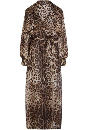 Dolce & Gabbana Leopard print organza trench coat