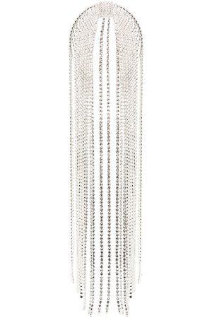 AREA Fringed crystal-embellished headpiece
