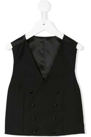 Dolce & Gabbana Boys Gilets - Tailored double-breasted waistcoat