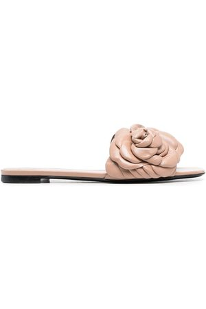 VALENTINO GARAVANI Floral-detail leather sandals