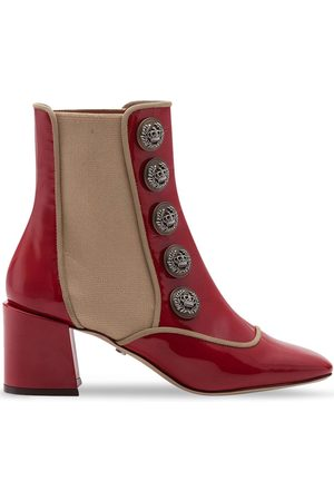 Dolce & Gabbana Button-embellished ankle boots