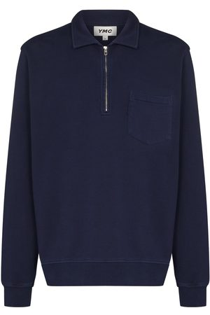 YMC Sugden zip-up cotton sweatshirt