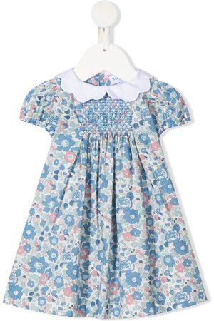 SIOLA Floral-print smocked dress