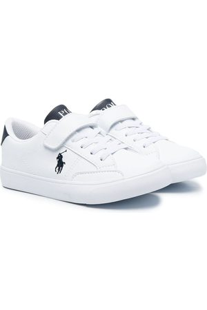 Ralph Lauren Boys Sneakers - Embroidered logo touch-strap sneakers