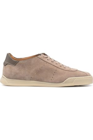 santoni Suede low-top trainers