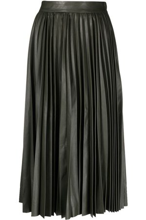 RED Valentino Leather pleated skirt