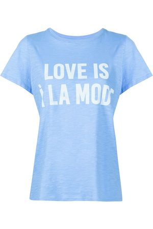 Cinq A Sept Slogan-print cotton T-shirt
