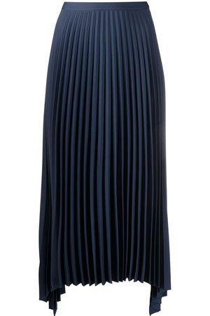 THEORY Pleated midi-length skirt
