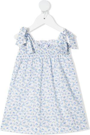 SIOLA Floral-print cotton dress