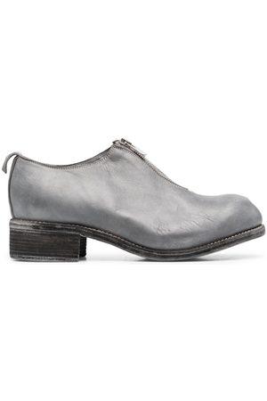 GUIDI Zip-up brogue shoes