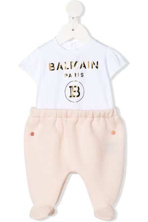 Balmain Logo print cotton-blend pajamas
