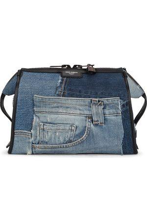 Dolce & Gabbana Edge denim patchwork shoulder bag