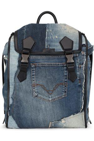 Dolce & Gabbana Patchwork-design denim backpack