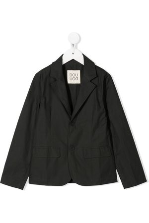 DOUUOD KIDS Single-breasted cotton blazer