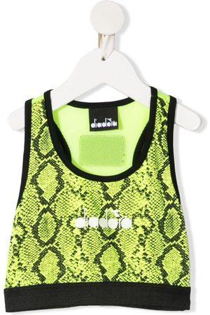 Diadora Snakeskin-print cropped vest