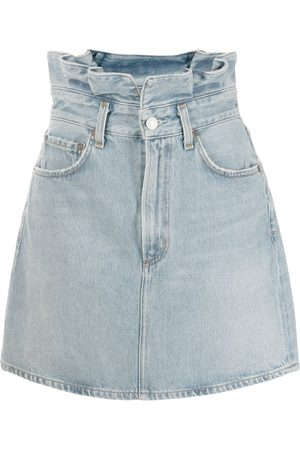 AGOLDE Lettuce Waistband denim skirt