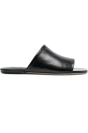 By Far Open-toe leather mules
