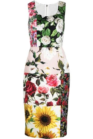Dolce & Gabbana Floral-print panelled dress