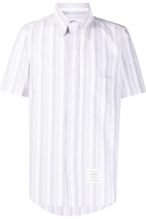 Thom Browne Oxford stripe short-sleeve shirt