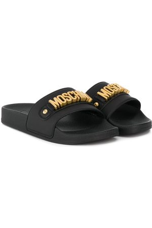 Moschino Logo-plaque sandals