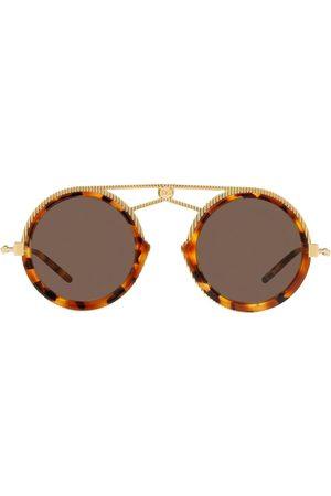 Dolce & Gabbana Tortoiseshell aviator frame sunglasses