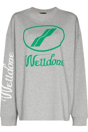 We11 Done Oversized-logo crew-neck sweatshirt