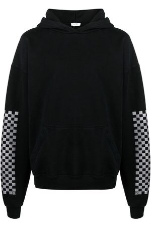 Rhude Check-print sleeve hoodie