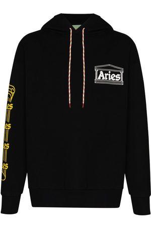 ARIES Temple print drawstring hoodie