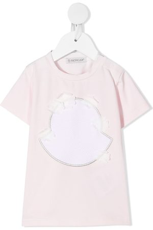 Moncler Embroidered stretch-cotton T-Shirt