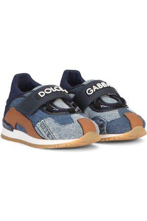 Dolce & Gabbana Denim patchwork sneakers
