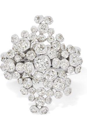 ANNOUSHKA 18kt gold Marguerite diamond cocktail ring