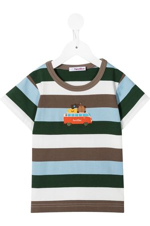 Familiar Striped embroidered t-shirt