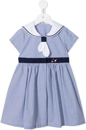 Familiar Girls Casual Dresses - Sailor-style striped dress