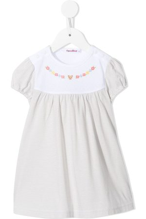 Familiar Baby Casual Dresses - Striped embroidered cotton dress
