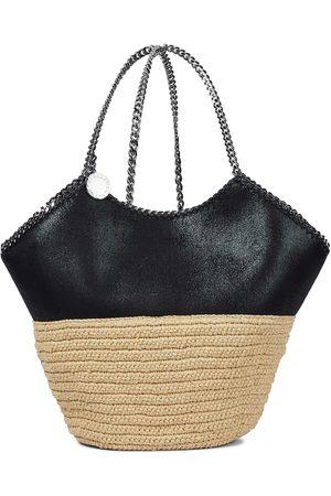 Stella McCartney Falabella Large raffia-trimmed shoulder bag