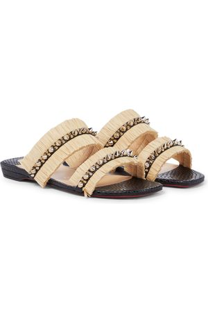 Christian Louboutin Marivodou embellished raffia sandals