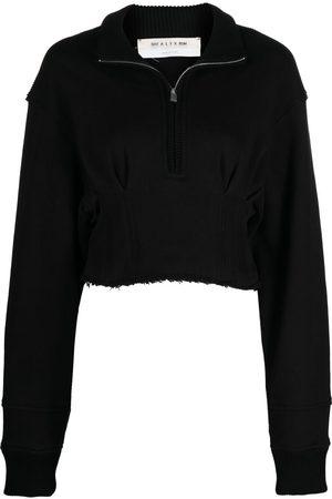 1017 ALYX 9SM Women Sweatshirts - Cropped zip-front sweatshirt